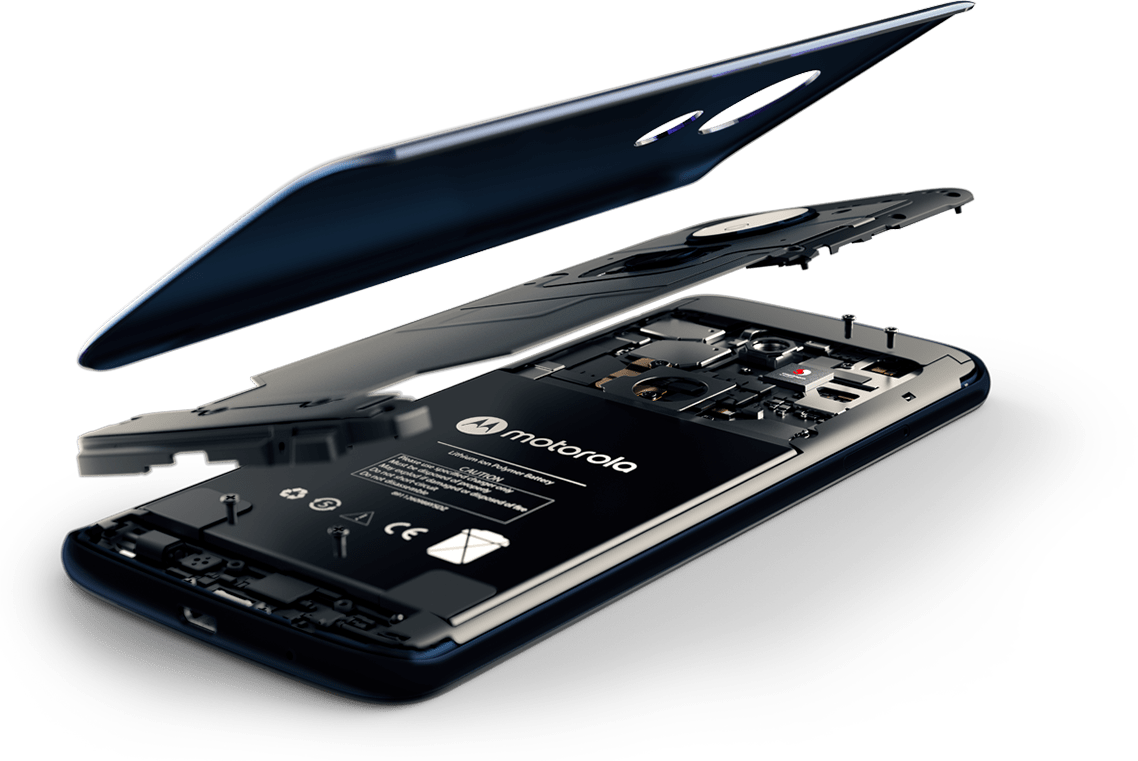 Moto G6 Play desmontado